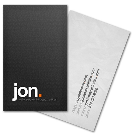 job seeker must haves  business cards